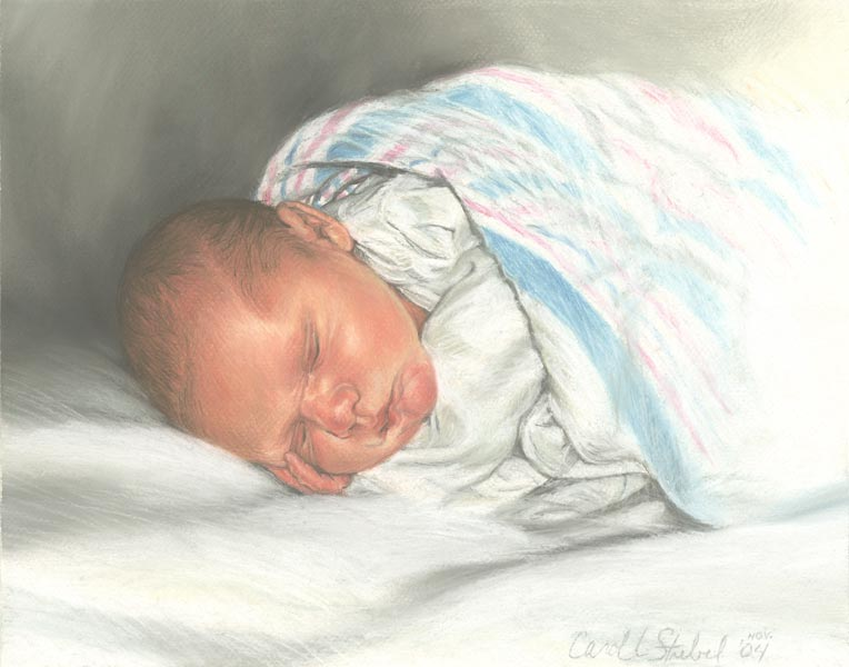Pastel Portrait of Baby