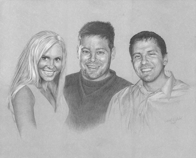 Portrait Sketch of Lindsay, Scott & James